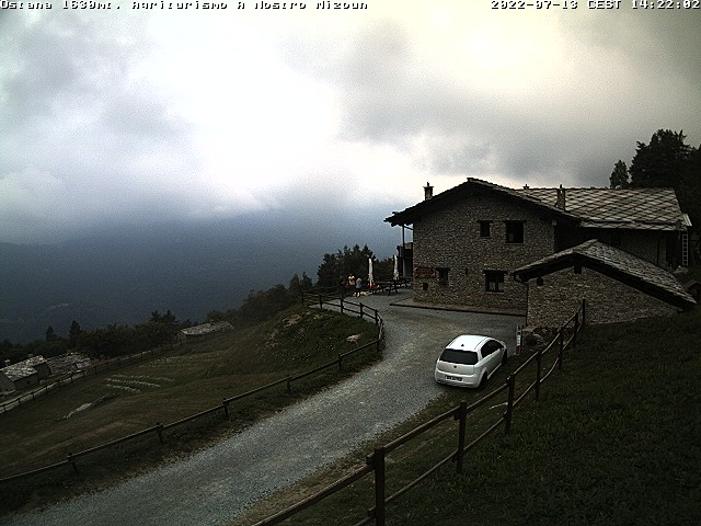 Webcam: The Monviso Mountain from Ostana. Amateur Weather Forecast Station provided by the Agritourism A nostro mizoun